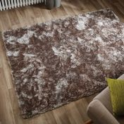 Serenity Mink Plain Shaggy Rug by Flair Rugs