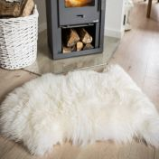 Sheepskin White Rug by Unique Rugs