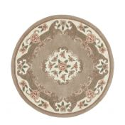 Shensi Beige Traditional Circle Rug by Origins