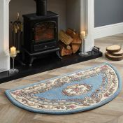 Shensi Blue Traditional Halfmoon Rug by Origins