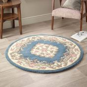Shensi Blue Traditional Circle Rug by Origins