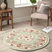 Shensi Green Traditional Circle Rug by Origins