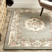 Shensi Grey Traditional Circle Rug by Origins