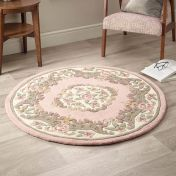 Shensi Pink Traditional Circle Rug by Origins