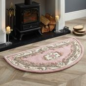 Shensi Pink Traditional Halfmoon Rug by Origins