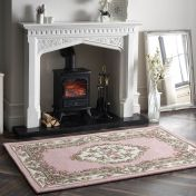 Shensi Pink Traditional Wool Rug by Origins