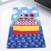 Unique Kids Ship Wool Rug by Prestige