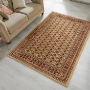 Sincerity Royale Bokhara Beige Traditional Rug by Flair Rugs