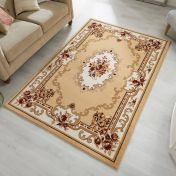Sincerity Royale Dynasty Beige Traditional Rug by Flair Rugs