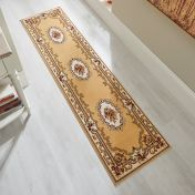 Sincerity Royale Dynasty Beige Traditional Runner by Flair Rugs