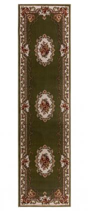 Sincerity Royale Dynasty Green Traditional Runner by Flair Rugs