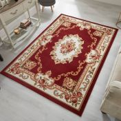 Sincerity Royale Dynasty Red Traditional Rug by Flair Rugs