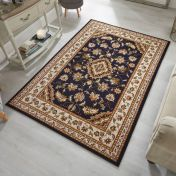 Sincerity Royale Sherborne Dark Blue Traditional Rug by Flair Rugs