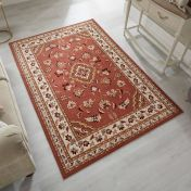 Sincerity Royale Sherborne Rose Pink Traditional Rug by Flair Rugs