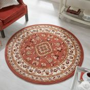 Sincerity Royale Sherborne Rose Pink Traditional Circle Rug by Flair Rugs