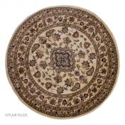 Sincerity Royale Sherborne Beige Traditional Circle Rug By Flair Rugs