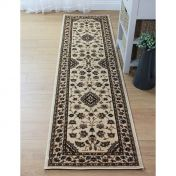 Sincerity Royale Sherborne Beige Traditional Runner by Flair Rugs