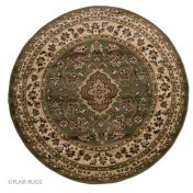 Sincerity Royale Sherborne Green Traditional Circle Rug by Flair Rugs