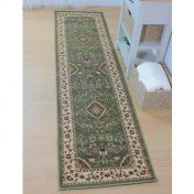 Sincerity Royale Sherborne Green Traditional Runner By Flair Rugs