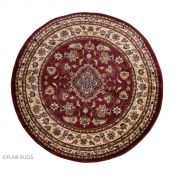 Sincerity Royale Sherborne Red Traditional Circle Rug By Flair Rugs