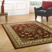 Sincerity Royale Sherborne Red Traditional Rug By Flair Rugs