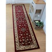 Sincerity Royale Sherborne Red Traditional Runner by Flair Rugs
