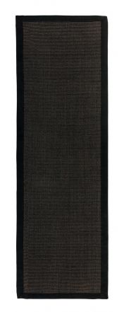 Sisal Black/Black Natural Decorative Runner by Asiatic