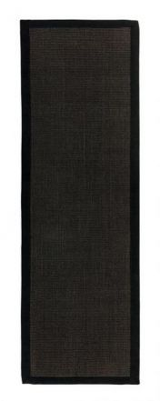 Sisal Black/Grey Natural Decorative Runner by Asiatic