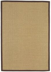 Sisal Linen/Chocolate Natural Decorative Runner by Asiatic