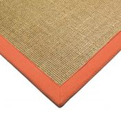 Sisal Linen/ Orange Natural Decorative Rug By Asiatic