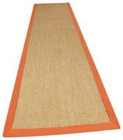 Sisal Linen/ Orange Natural Decorative Runner By Asiatic