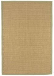Sisal Linen/Sage Natural Decorative Runner by Asiatic