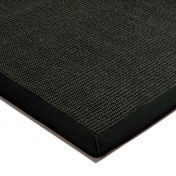 Sisal Black/Black Natural Decorative Rug by Asiatic