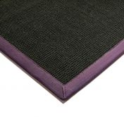 Sisal Black/Purple Natural Decorative Rug by Asiatic