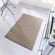Skyline Petronas Brown Modern Runner by Flair Rugs