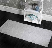 Skyline Petronas Grey Modern Runner by Flair Rugs