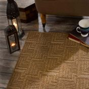 Skyline Pinnacle Brown Modern Rug by Flair Rugs