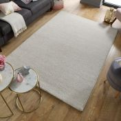 Sleek Natural Plain Shaggy Rug by Flair Rugs