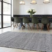 Sloan Black/White Geometric Rug by Asiatic