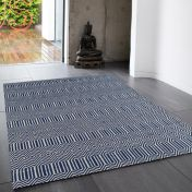 Sloan Blue Geometric Runner by Asiatic