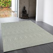 Sloan Duck Egg Geometric Rug by Asiatic
