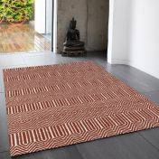 Sloan Marsala Geometric Rug By Asiatic