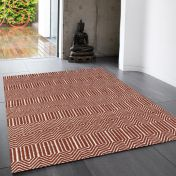 Sloan Marsala Geometric Runner By Asiatic
