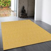 Sloan Mustard Geometric Runner by Asiatic