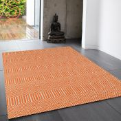 Sloan Orange Geometric Rug by Asiatic