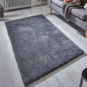 Softness Charcoal Plain Shaggy Rug by Oriental Weavers