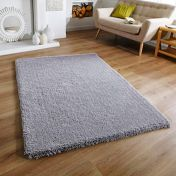 Softness Grey Plain Shaggy Rug by Oriental Weavers