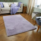 Softness Lilac Plain Shaggy Rug by Oriental Weavers