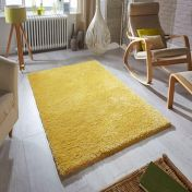Softness Mustard Plain Shaggy Rug by Oriental Weavers