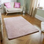 Softness Pink Plain Shaggy Rug by Oriental Weavers